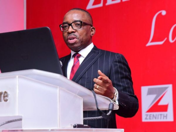 'Within 3days!' Zenith Bank's shareholders lose ₦3.13billion as GMD invests ₦112 million