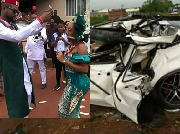 'Wedded for 3days' Truck runs over new groom at police checkpoint (Photos)