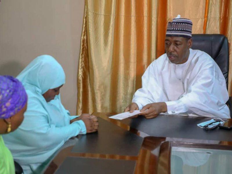 'RIP' Borno gov dashes N20mln late Col. Bako family (Photos)
