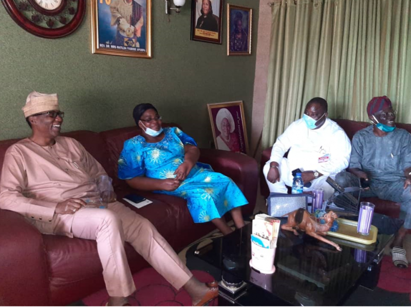 OGD visits with Apampa over husband demise (Photos)