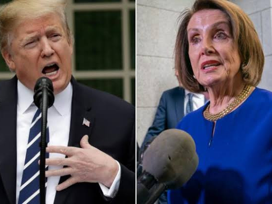 'Second time? You're crazy!' Trump hits out at Nancy Pelosi impeach statement