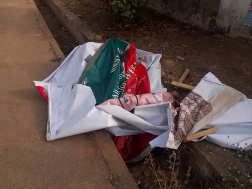 'Going local' Party uses charms as protection against posters vandalism in Ondo