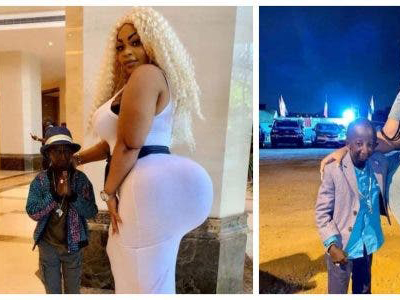 'It's love' Popular model reveals why she's with her small sized fiancé (Photo)