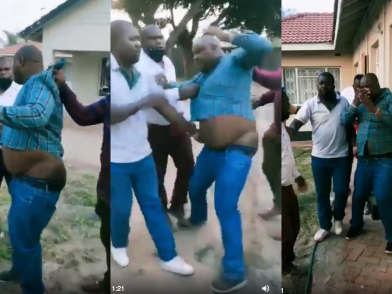 'Bad day?' Man caught pants down trying to bonk boss wife (Video)