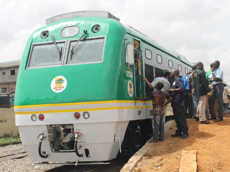 'Rail development' Buhari commissions another project, names stations after Jonathan, Saraki, others