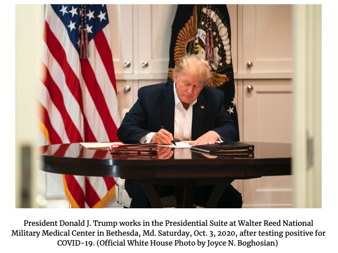 'Reality TV presidency' Trump slammed for signing blank paper in 'staged' photos