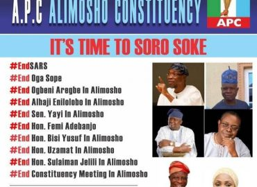 Alimosho #SOROSOKE Says Otoge To Aregbesola, Enilolobo, Others