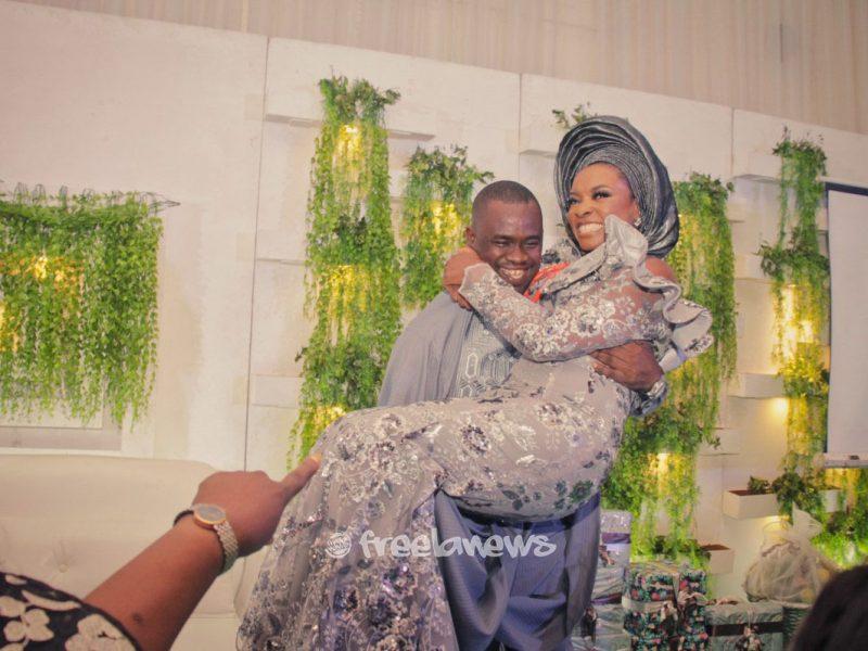 'Congrats!' Photos as Bosun Osifowora, Ebun Awosika tie knot at traditional wedding