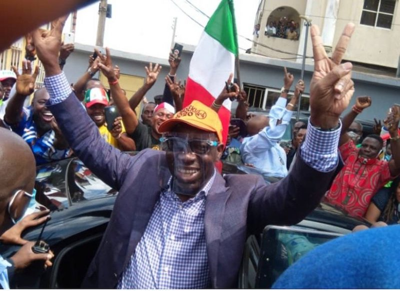 'Congrats!' Photos emerge as Obaseki officially begins second term