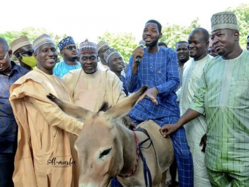 'Youth Empowerment' Kano State Governor Aide shares donkeys & other items (Photos)