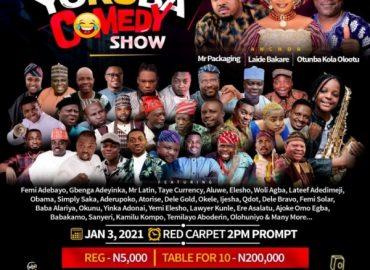 Laide Bakare, Otunba Kola Olootu join Wale Adeoba to anchor Yoruba Comedy Show in Ibadan