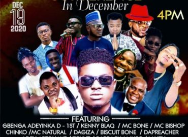 'Comedy in December' Gbenga Adeyinka D1st, Kenny Blaq, others to thrill guests