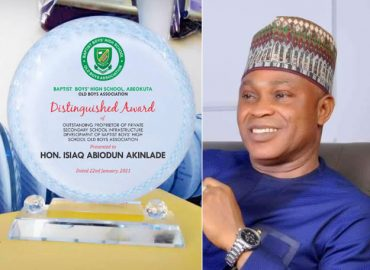 'Nulli secundus' BBHS recognises Abiodun Akinlade's contribution to educational dev't in Ogun