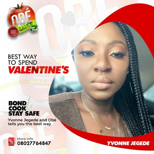 'COVID-19 2nd Spike' Easy Sauce, Yvonne Jegede collaborate to educate people to cook, stay home this Valentine
