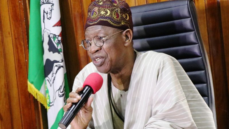'Climate will be at stake' Lai Mohammed gives reasons why bandits' hideout cannot be destroyed