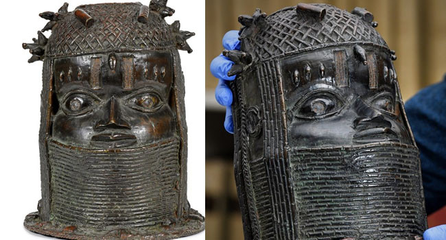 'Back home' UK University to return stolen Benin Bronze to Nigeria