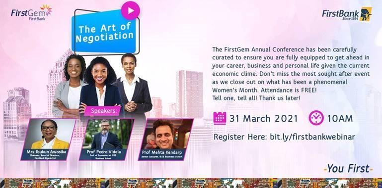 'Empowering women' FirstBank convenes 4th FirstGem event