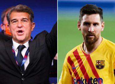 'Congratulations' Joan Laporta wins Barcelona presidential  election, Messi reacts