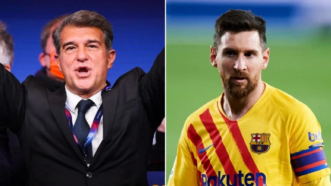 'Congratulations' Joan Laporta wins Barcelona presidential  election, Messi reacts