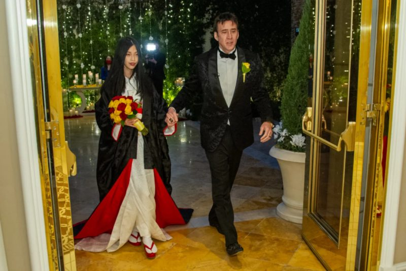 'For the 5th time' American actor, Nicholas Cage, ties the knot with 26 year old girlfriend (Photos)