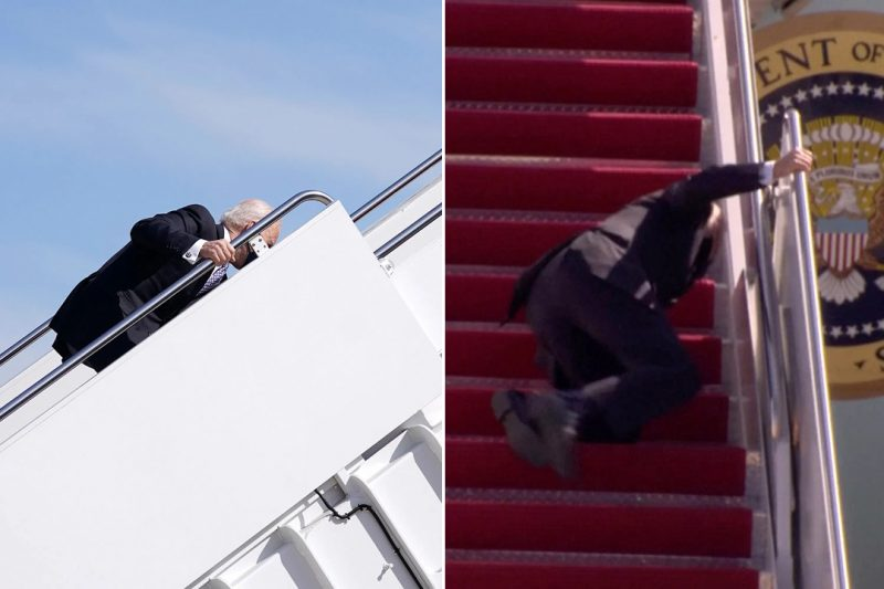 'Are you okay sir?' US president, Joe Biden, falls while boarding Air Force One