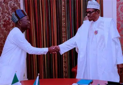 'Paid a visit' Ortom meets Buhari in Aso Rock
