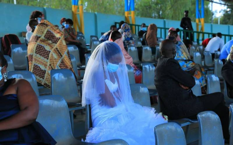 'Conjugal blitz' Newly wed spend first night in stadium for breaking COVID-19 rules (Photos)
