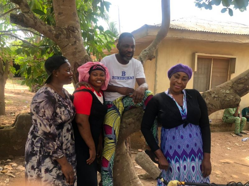 'All together now' Toyosi, others storm Abeokuta for one-in-town comedy movie, Dukenke (Photos)