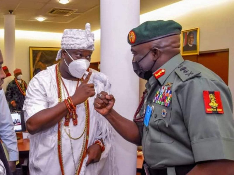 'Bitter pill to swallow' Ooni unhappy over Army chief, other officers' deaths