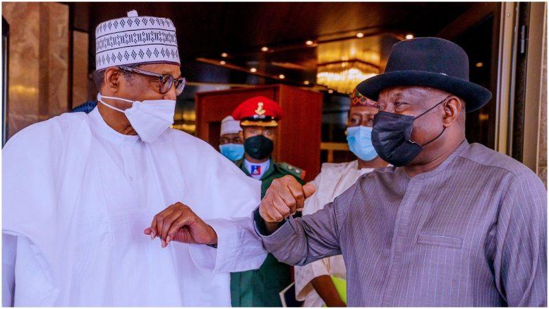 'Special envoy' Former president, Jonathan meets Buhari behind closed doors in Aso Villa