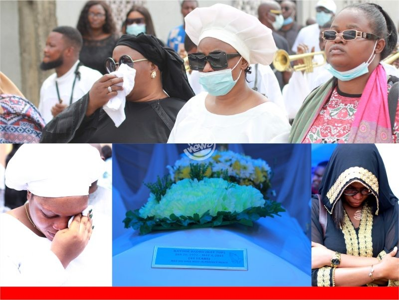 'Sad' Tears as Kayode Badru is finally laid to rest (Full Video, Photos)