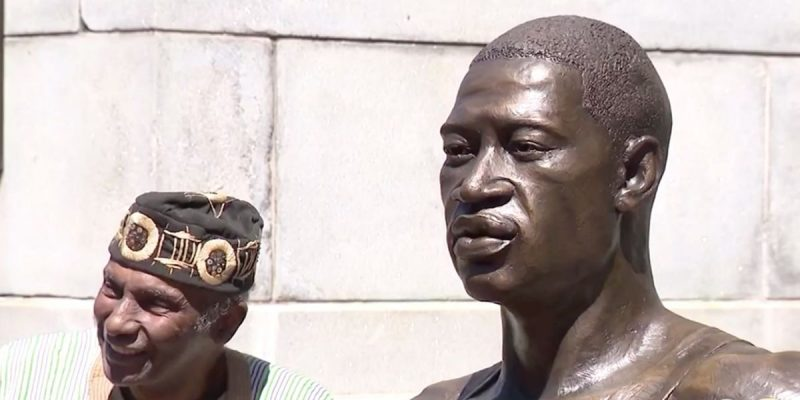 'Black lives matter' George Floyd statue in New York vandalized