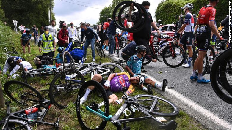 'Brought to book' Woman who allegedly caused Tour de France crash arrested