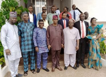 'Appreciation!' TASUED Management visits Gbenga Daniel, commends his foresight