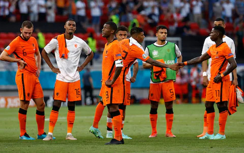 'Terrible turn of events' Dutch exit Euro 2020 after disastrous red card for De Ligt