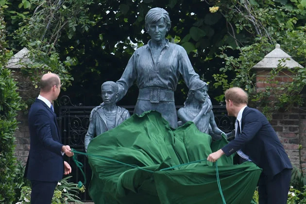 'In honor of' William, Harry reunite to unveil Diana's statue on her 60th birthday (Photos)