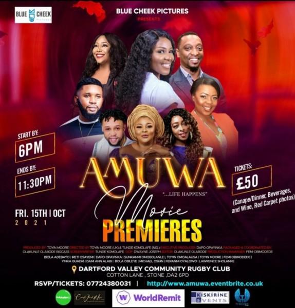 'Life happens' Àmúwá to premiere in London Oct 15