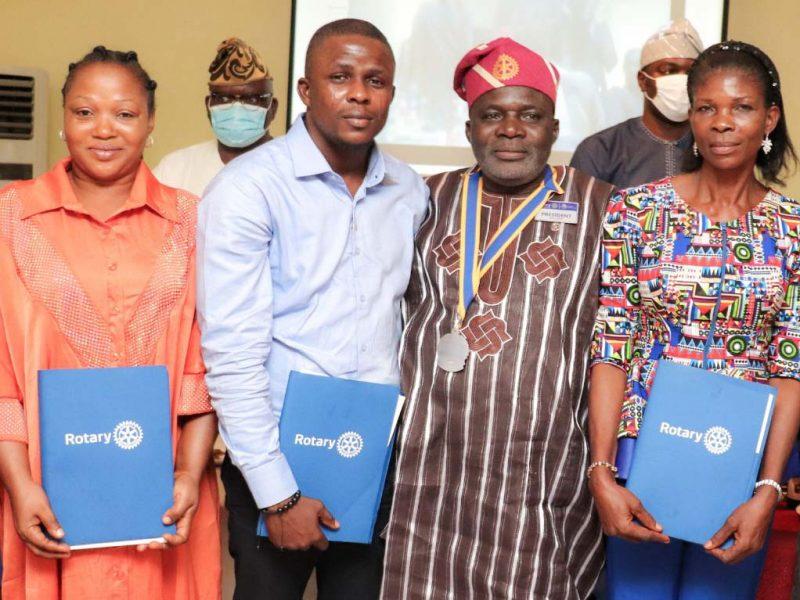 'Congrats!' Alausa Rotarians induct Freelanews publisher, Victor Ojelabi, others (Photos)