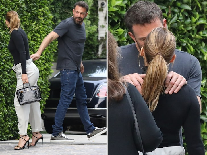 'Passionate kiss' Ben Affleck kisses reunited Jennifer Lopez as they bid each other goodbye