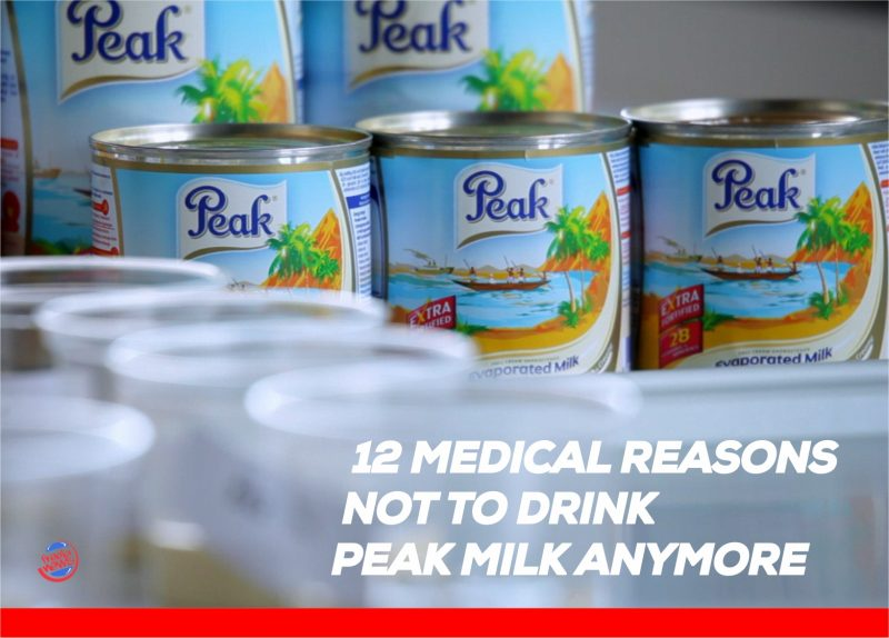 'Be intentional with good health' 11 medical reasons not to drink Peak milk anymore