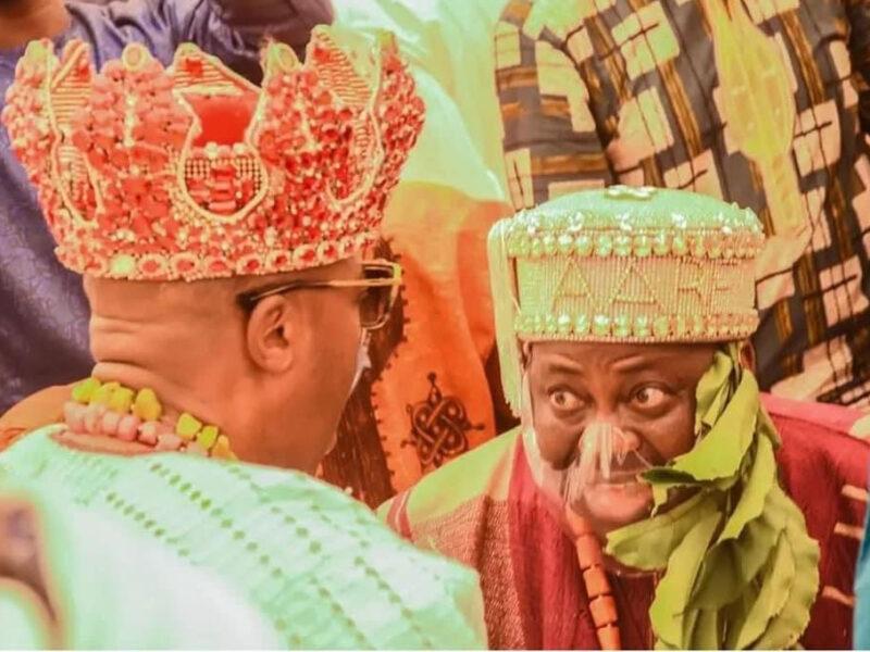 'Congrats!' Dele Momodu, wife named Aare, Yeye Aare of Iwo Kingdom (Photos)