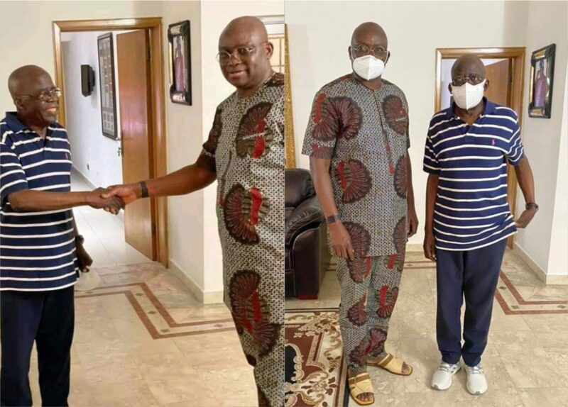 'Greetings!' Ayo Fayose, former Ekiti State governor, visits Asiwaju Bola Tinubu (Photos)